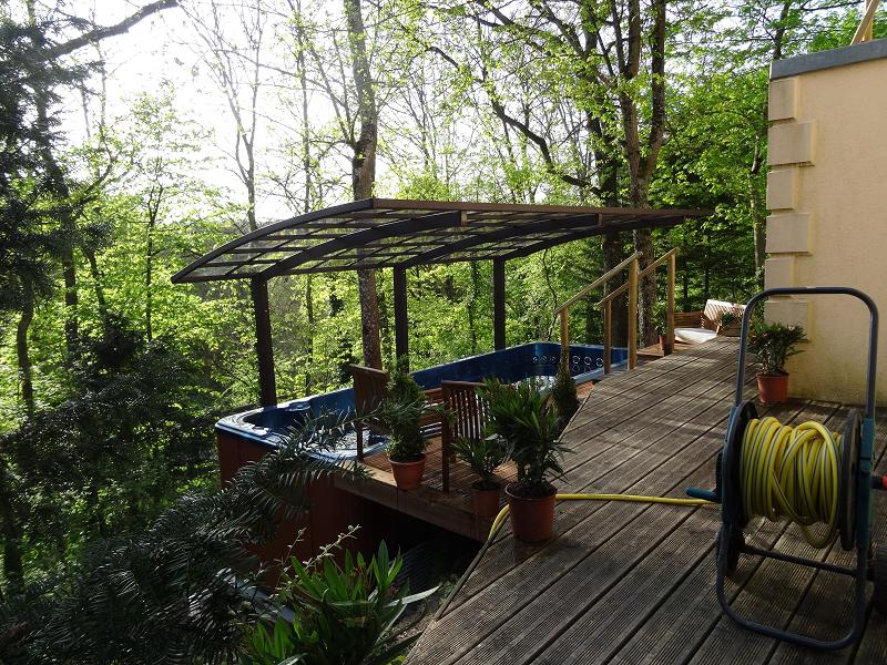 Spa de nage - Terrasse Bois - Plage Haute