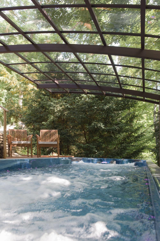 Spa de nage Monozone et marquise - Essais